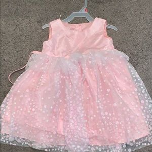 Other - Girls Pink Tutu Dress with Glitter Polka Dots